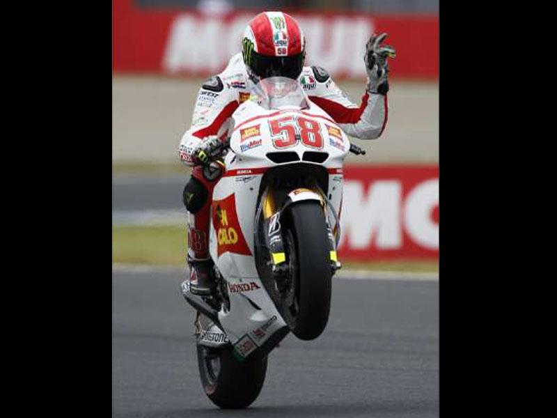 MotoGP Foto Simoncelli Tewas saat balapan di MotoGP Malaysia