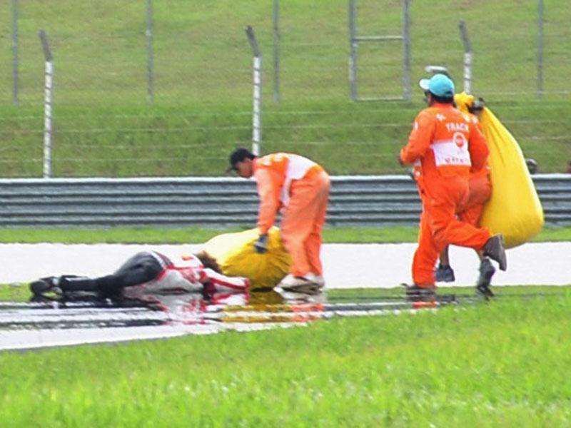 MotoGP3 Foto Simoncelli Tewas saat balapan di MotoGP Malaysia